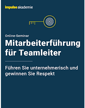 Online-Seminar Mitarbeiterführung für Teamleiter