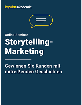 Online-Seminar Storytelling-Marketing