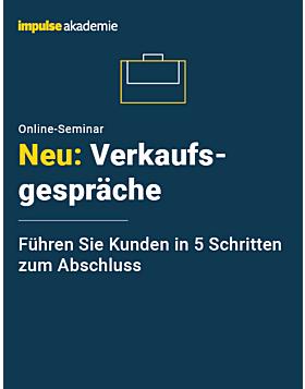 Online-Seminar Verkaufsgespräche