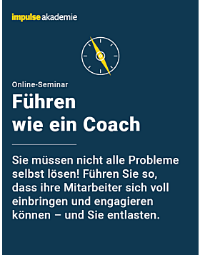 Online-Seminar Führen wie ein Coach