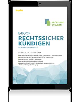 """impulse e-Book """"Rechtssicher kündigen"""""""