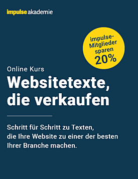 """ONLINE-KURS """"WEBSITETEXTE, DIE VERKAUFEN"""" – Herbst 2021"""