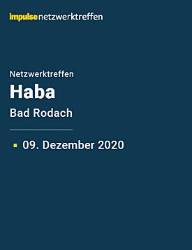 Netzwerktreffen bei Haba am 09. Dezember 2020