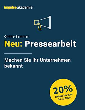 Online-Seminar Pressearbeit