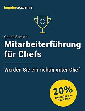 Online-Seminar Mitarbeiterführung für Chefs