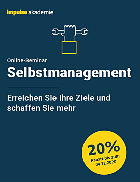 Online-Seminar Selbstmanagement
