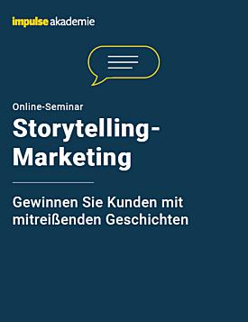Online-Seminar Storytelling-Marketing