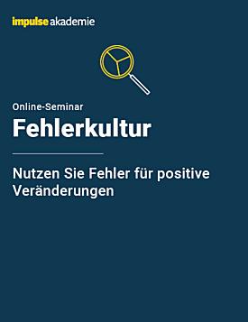 Online-Seminar Fehlerkultur